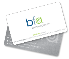 BFA Technologies business card